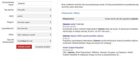 Alerty Google
