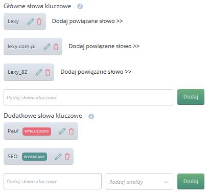 Monitori.pl - konfiguracja projektu