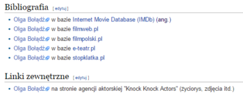 Linki na Wikipedii